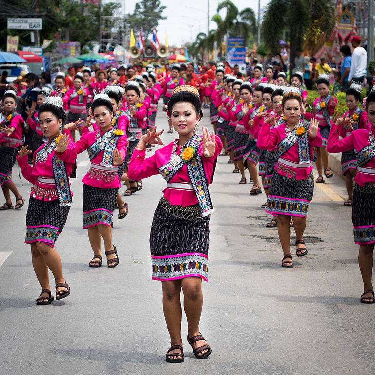 Dancers in Yasothon parade.