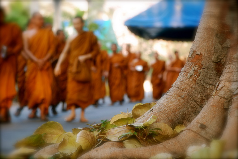 Celebrating the holy Asalaha Bucha day